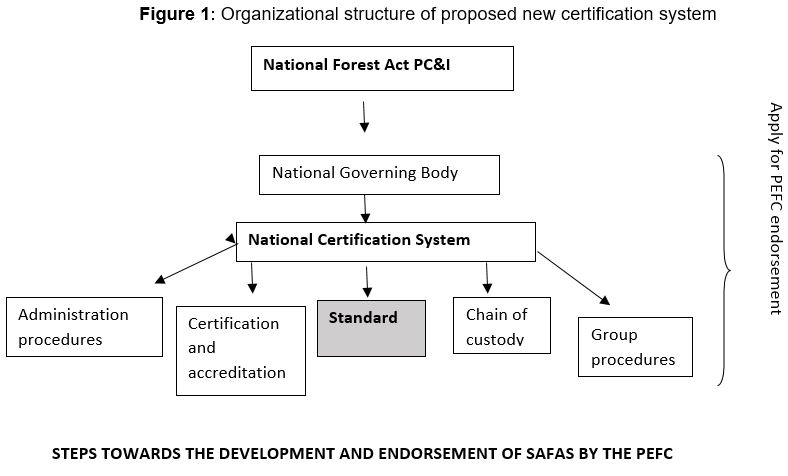 Organizational structure of proposed new certification system