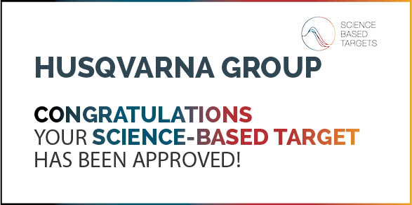 Husqvarna Group's science-based target