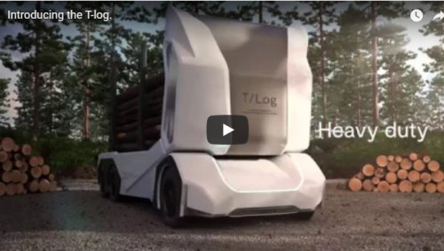 electric driverless logging truck