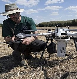Drone test for replanting forests