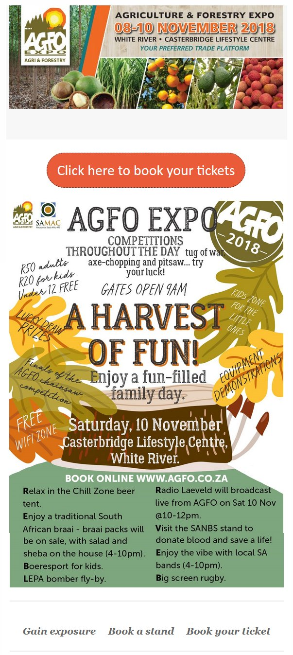 AGFO Expo - A Harvest of Fun