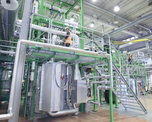 The development of gasification technology takes place in VTT's Bioruukki piloting center in Espoo, Finland.