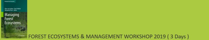 Forest Ecosystems and Management Workshop 2019 (3 Days)