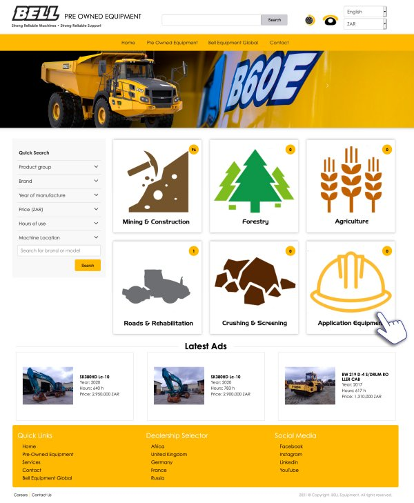 Bell launches global pre-owned equipment website