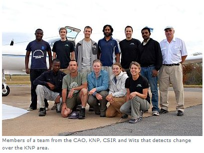 CSIR - Members of a team from the CAO, KNP, CSIR and Wits that detects change over the KNP area.